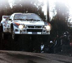 Henri Toivonen - Juha Piironen 34ª Rally 1000 Lagos 1984 (Finlandia). Lancia Rally 037. Clasificado 3º.