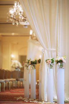 Romantic Ballroom Wedding from Binaryflips Photography - MODwedding Wedding Pews, Ballroom Wedding, Chapel Wedding, Mod Wedding, Chic Wedding, Dream Wedding, Wedding Reception, Pakistan Wedding, Wedding Consultant