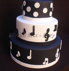 bolos com tema de notas musicais - Pesquisa Google
