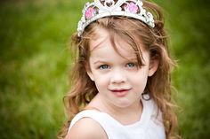 Photoshoot idea for a little girl who thinks she's a princess