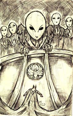 """The Court of Owls has sentenced you to death! Batman Arkham, Batman Vs, Comic Books Art, Comic Art, Batman Coloring Pages, Court Of Owls, Fish Mooney, Mafia Crime, Inner Demons"