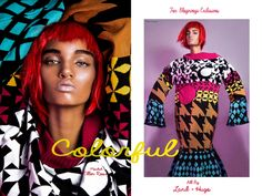 """awesome Ellen Rosa is """"Colorful"""" in Land + Hugo Shoot for Bloginvoga Exclusives  [Editorial]"""