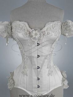 Bridal Corset by v-couture-boutique.deviantart.com on @deviantART