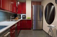 #Kitchen of the Day: Modern Red Kitchen Cabinets #04 (Kitchen-Design-Ideas.org)