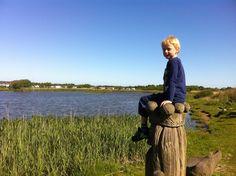 Ved fiskesøen på Hvidbjerg Strand