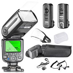 Neewer® NW-565C Professional E-TTL Slave Flash Kit for Canon Rebel T5i T4i T3i T3 XS T2i T1i Xsi Xti, EOS 650D 600D 1100D 1000D 550D 500D 450D 400D 350D 300D 5D Mark III 5D Mark II 6D 5D 7D 60D, 50D and All Other Canon DSLR Cameras- Includes: Neewer Auto-Focus Flash + 2.4GHz 3-IN-1 Wireless Trigger + 2 Cables(C1-Cord + C3-Cord Cables) + Hard & Soft Flash Diffuser + Lens Cap Holder Neewer http://www.amazon.com/dp/B00O0N72MC/ref=cm_sw_r_pi_dp_KNiAwb11PFET6