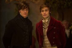 Sam Riley and Douglas Booth star in Pride and Prejudice and Zombies