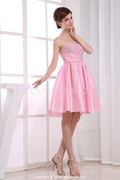 Pink Mini Taffeta Sweetheart Sweet 16 DressWholesale Price: US$119.99