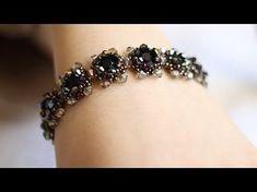 Tutorial: Vintage beaded bracelet / Винтажный браслет из бисера и бусин своими руками - YouTube