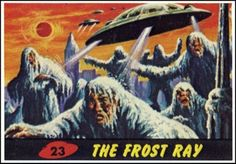 Mars Attacks Topps ~ 1962 Artwork by Norman Saunders & Bob Powell These are some fantastic painted cards from Topps in the early that. Mars Attacks, Tim Burton, Comic Art, Comic Books, Horror Comics, Science Fiction Art, Sci Fi Movies, Star Wars Episodes, The Martian