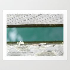 Water under the pier Art Print by Claire Stone - $17.00