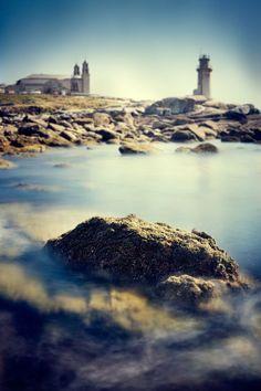 Santuario da Virxe da Barca e Faro de Muxía. Galicia. Spain.