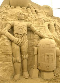 sans scuptures | Star Wars' sand sculptures in Weymouth - Star Wars sand sculptures in ...