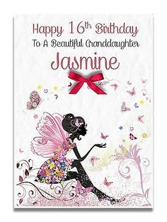 Handmade Personalised Sister Granddaughter Friend 12th 13th 30th Birthday Card Cards Greeting