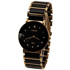 Longbo Quartz Watch with Diamond Dots Indicate Steel and Plastic Watchband for Women, BLACK in Women's Watches Best Watches For Men, Cool Watches, Rolex Watches, Black Watches, Ladies Watches, Cheap Watches, Wrist Watches, Plastic Jewelry, Vintage Accessories
