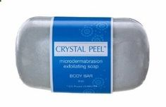 Crystal Peel Microdermabrasion Exfoliating Soap Body Bar, 8 Ounce by Crystal Peel. $123.01. Body buffing soap reveals smoother, younger looking skin. The crystal peel exfoliating body soap delivers the benefits of microdermabrasion to the shower with a quick exhilarating lather. The soaps brisk polishing action helps stimulate new collagen production and buff away dull dry skin. Its clinically proven to treat keratosis pilaris, folliculitis and even out skin discolora...