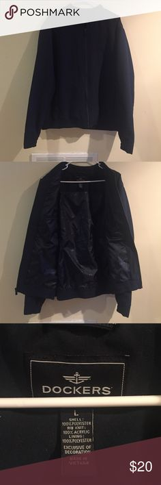 ***MENS ITEM*** Lightweight, fully lined jacket. Classic men's jacket.  2 front pockets and 2 inside pockets.  Great deal on this item worn only once! Dockers Jackets & Coats Lightweight & Shirt Jackets