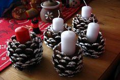 tvoření na jarmark Pillar Candles, Advent, Diy And Crafts, Holidays, Ornaments, Holidays Events, Holiday, Christmas Decorations, Ornament