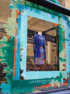 "Love the layers of color! Anthropologie ""Abstract Expressionism"" Window Displays Visual Merchandiser, styling and still life designs Window Display Design, Store Window Displays, Retail Displays, Boutique Window Displays, Visual Merchandising Displays, Visual Display, Retail Windows, Store Windows, Anthropologie Display"