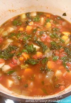 Campbell's has the slogan right when it comes to a good soup, but they have nothing on Giada De Laurentiis' Winter Minestrone. I love watching her show and her recipes. I … Giada Recipes, Chef Recipes, Food Network Recipes, Italian Recipes, Soup Recipes, Cooking Recipes, Cooking Network, Recipies, Salad Recipes