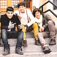 Zayn, Louis, and Harry