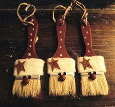 More Than 10 Primitive Christmas Ornaments Diy Primitive Weihnachtsschmuck Diy - Bilmece Rustic Christmas Ornaments, Christmas Holidays, Ornaments Ideas, Primitive Christmas Ornaments, Primitive Christmas Decorating, Cheap Christmas Decorations, Snowman Ornaments, Primitive Decor, Primitive Stars