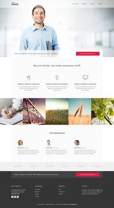 Fertile – Free HTML5 Portfolio Template. Ik vind dit een erg mooie presentatie van informatie. Het is kalm, rustig en overzichtelijk