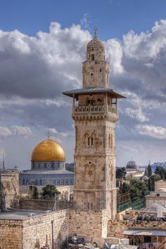 The Dome of the Rock & the Al Aqsa compound, Jerusalem   I have never been there but long to go someday.