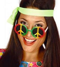 Hippie Peace Sign Glasses – My Fancy Dress Accessoires Hippie, Accessoires Photo, Fiesta Flower Power, 1960s Fancy Dress, Fancy Dress Glasses, Costume Hippie, Crazy Sunglasses, 60s Hippies, 1960s Costumes