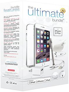 ★ The Ultimate Bundle for iPhone 6 Plus ★ – 7 in 1 Accessory Kit – White – MFI Apple-Certified – Gift Packaging Includes: 3ft Apple Certified Lightning Cable, Wall Charger, Car Charger, 3.5mm Earbuds Headset with Remote and Mic, Clear HD Screen Protector w/ Cleaning Cloth, TPU Case, Stylus.
