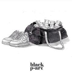 #sneakerart #artist @blackp.art