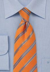 Clip-Businesskrawatte Streifendesign orange günstig kaufen
