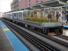 mobile train garden