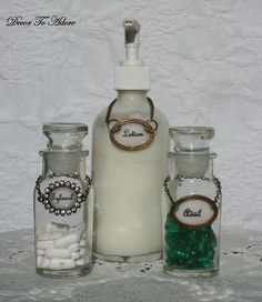 Just got some great vintage bottles!  I am definitely doing this!