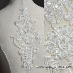 Yulakes Floral Embroidery Neckline Colored Lace Collar Venise Lace Applique Patch Lace Trim Wedding Bridal Dress Fabric DIY Sewing for Craft Luxury Colorful black