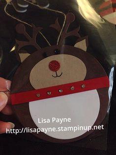 Stampin up reindeer tag