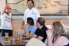 Talking to the chef at the Wynwood food tour @wkbmiami http://www.miamiculinarytours.com