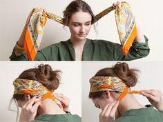 ヘッドスカーフとしてスカーフを活用!