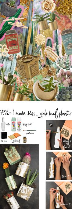 P.S.- I made this...Gold Leaf Planter with @HouseLarsBuilt #PSIMADETHIS #DIY