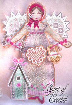 Spirit of Crochet Angel Ornament - Cross Stitch Pattern