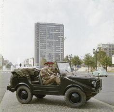 DKW Munga was a DKW-branded off-road vehicle built by Auto-Union used by the British Army. The Royal Military Police on patrol seen here in Berlin 1962.