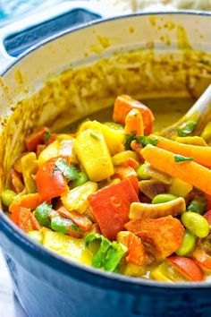 This Coconut Cream Pineapple Curry is super easy to make, versatile full of fantastic flavors and just a must make for everyone. Entirely vegan, gluten free and you can make your favorite version by adding optional extras in. Pineapple Curry, Coconut Curry, Coconut Cream, Vegan Dinners, International Recipes, Main Meals, Casserole Dishes, Delish, Vegan Recipes