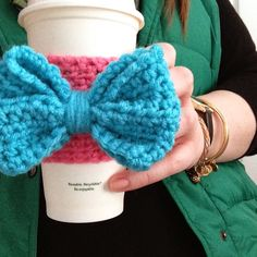 Weekend Pursuits: 'free pattern Put A Bow On It' Crochet Coffee Cozy