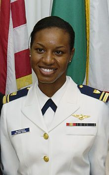 Jeanine McIntosh Menze holds the distinction of becoming the first African-American female in the United States Coast Guard to earn the Coast Guard Aviation designation. At the time of her graduation, she was the first African-American female aviator in the history of the U.S. Coast Guard.