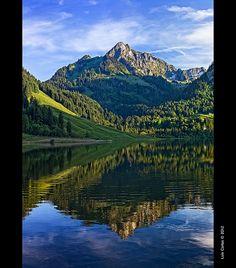 Schwarzsee Lake, Fribourg Region, Switzerland
