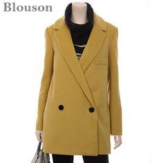 [패션플러스][Blouson][블루종]라펠레이어 투톤 코트[B1211CT015D]/코트 Ganji Fashion