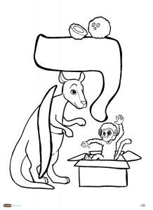 aleph bet coloring pages - photo#21