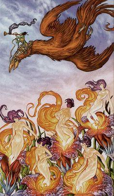 XX - Le jugement - Universal Fantasy Tarot par Paolo Martinello