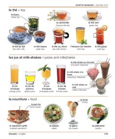 A few café foods/drinks