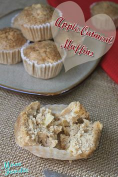 Apple Oatmeal Muffins Recipe (gluten free)